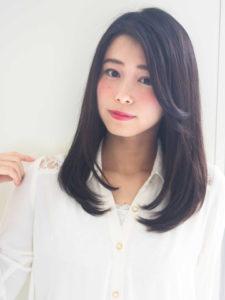 黒髪、暗髪☆ストレートセミディ TAKU